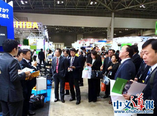 日经组织中国代表视察日本最大环保展(组图)