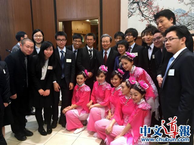 大使馆招待留日学人共迎猴年春节(组图)