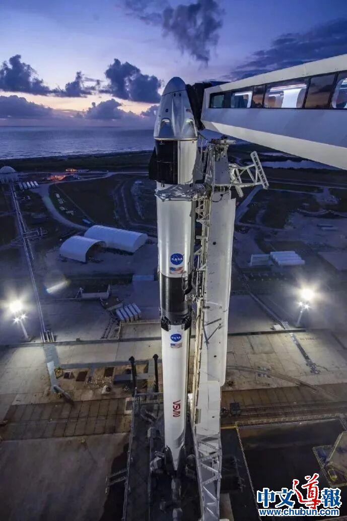 SpaceX龙飞船首次载人上太空  创造历史