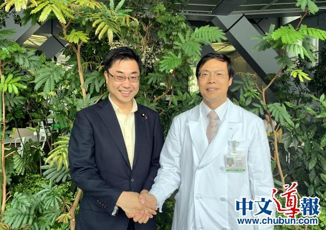 秋山公造议员希望促进中日医学交流