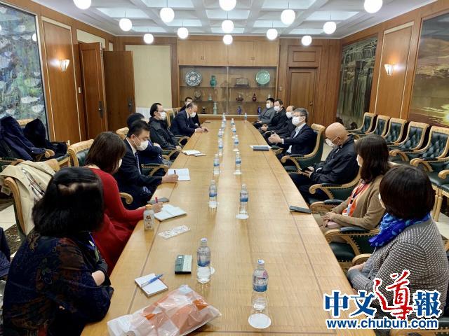 中国驻日本使馆召开旅日侨胞防控新冠肺炎疫情座谈会