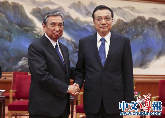 李克强希望日本奉行积极对华政策