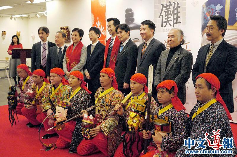 """欢乐春节:中国文化中心举办""""傩面傩舞展"""""""