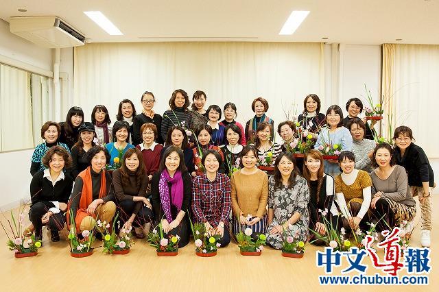 一花一世界:在日华人女性花艺讲座欢乐举行