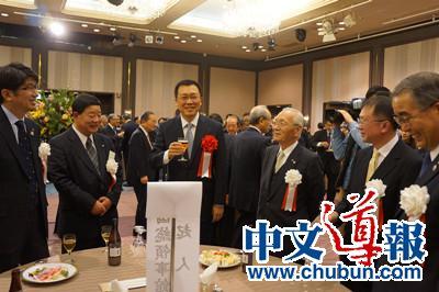 长崎各界欢迎邓伟履新总领事