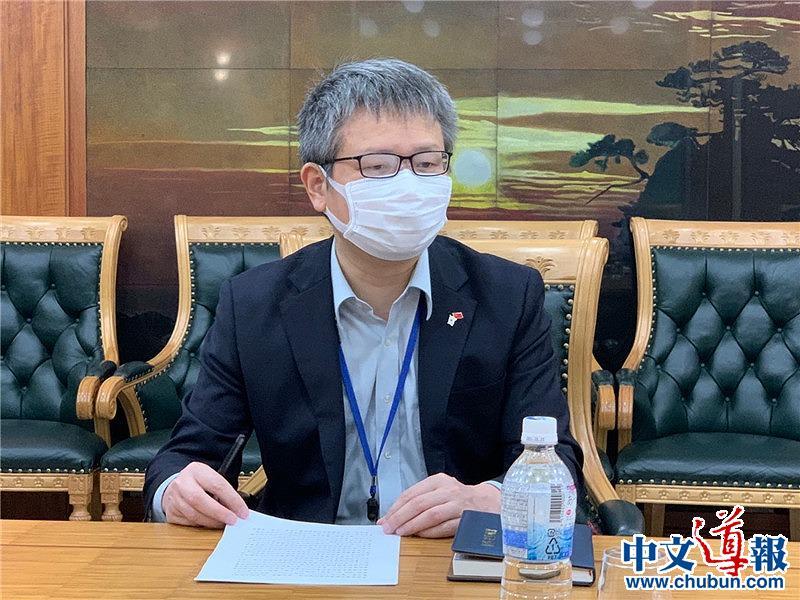 詹孔朝参赞兼总领事呼吁在日侨胞爱护生命坚守抗疫