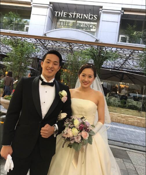 日本游泳名将娶华裔跳水佳丽